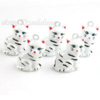 5 New White Cat Jingle Bells Fit Festival/Party 270014