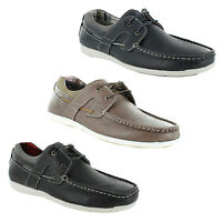New Mens Nubuck Slip On Lace Up Deck Boat Moccasin Gents Flat Shoes Size UK 6-11
