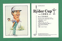 VICTORIA  GALLERY  -  GOLF  CARD -  CHIP  BECK  OF  THE  U.S.A.  -  1991