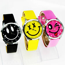 Free Shipping New design Smile Face Girls Boys Kids Wrist Watches,A28