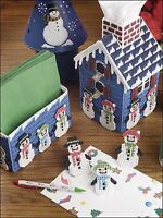 Snowmen Snowflakes Candy Canes Advent Calendar Plastic Canvas Pattern Book NEW