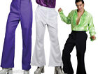 MENS ADULT 1970s 70s SEVENTIES DISCO FLARES FLARED TROUSERS FANCY DRESS COSTUME