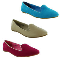 New Ladies Ballerina Casual Flat Ballet Dolly Mule Pumps Shoe Sizes 3 4 5 6 7 8