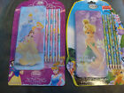 DISNEY TINKERBELL OR PRINCESS TIN PENCIL CASE AND 6 PACK OF COLORED PENCILS  NWT