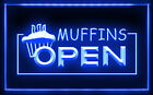 FB016 B Muffins OPEN Shop Bakery LED Light Sign