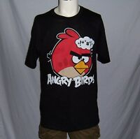 ANGRY BIRDS MEN'S SHORT SLEEVE TEE T SHIRT SIZES MEDIUM & LARGE NEW WITH TAG!