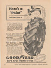 Vintage 1948 GOODYEAR TYRES Print Advertisement SURE GRIP TRACTOR TYRES