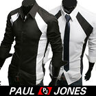 New Men's Slim Fit Casual Business Shirts Long Sleeve Dress Shirts SIZE S-M-L-XL