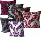 "BRAND NEW Flock Cushion Covers, 18"" X 18"" [45 X 45CM] ALL COLOURS RRP £7.99"