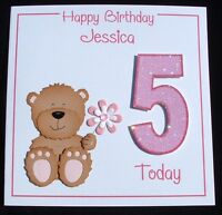 Personalised Handmade Child's 1st 2nd 3rd 4th 5th 6th 7th 8th 9th Birthday card