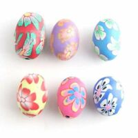 30pcs 110898 Wholesale Colorful Assorted Oval Flowers FIMO Polymer Clay Beads