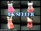 BARBIE SINDY DOLL SHORT PINK SHINY FAIRY PRINCESS STYLE DRESS OUTFIT 4 DESIGNS