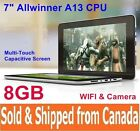 """8GB 7"""" Android 4.0 ICS Tablet PC Capacitive MultiTouch Cortex A8 CPU Mali400 GPU"""