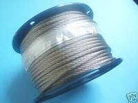 """304 Stainless Steel Wire Rope Cable, 1/4"""", 7x19, 250 ft reel, Made in Korea"""