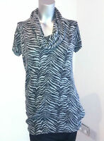 BNWT ANIMAL PRINT SOFT JUMPER TOP ANGORA GREY SWEATER SMALL MEDIUM 8-10-12-14