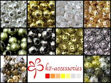 400 x 4mm / 200 x 6mm / 100 x 8mm / 50x10mm Metal Spacer Beads - Various Colour