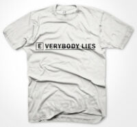 Mens Funny Tshirts Everybody Lies White T-Shirt Various Sizes