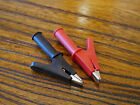 60mm Crocodile Alligator Clips for 4mm Banana Plugs (1 Pair Red + Black)