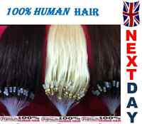 """16"""" Loop Micro Ring 100% Remy Human Hair Extensions,Choose Colour, Grade AAA"""
