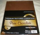 """Core'dinations Scrapbooking Cardstock Paper 8.5"""" x 11"""" PURE CHOCOLATE Texture"""