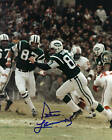 PETE LAMMONS NEW YORK JETS 1969 ACTION SIGNED 8x10