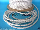 FREE P&P* 5 metres 8mm WHITE Bungee Shock Cord Rope for Trailer Covers Tie Down