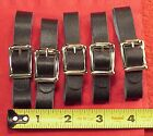 Vintage 1/2 Inch Black Only Pocket Watch Fob Strap Genuine Leather FIVE PIECES