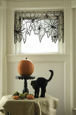 "Heritage Lace Halloween Creepy Crawly 4-Way 60"" x 22"" Black/Ghostly Gray"
