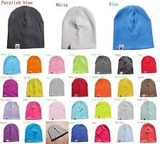 Unisex Cute Baby Toddler Infant Beanie Hat Cotton Cap 31 Colors 0-3 years old