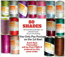 Sewing Machine Thread 1000m Spool Polyester Choice of Colours Top Quality 120s