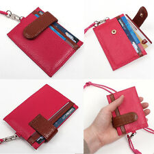 New Credit Card ID Business Card Holder Wallet Necklace Neck Strap Purse-B1961K