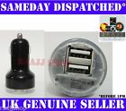 BLACK DUAL USB IN CAR CHARGER FOR IPHONE 3G 3GS 4 4S 5 5S 5C IPAD AIR MINI IPOD