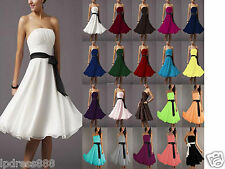 New Bridesmaid  Wedding  Cocktail Formal Party Prom Ball Evening Chiffon Dresses