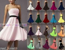 Wedding Bridesmaid Cocktail Formal Party Prom Ball Evening Chiffon Short Dresses