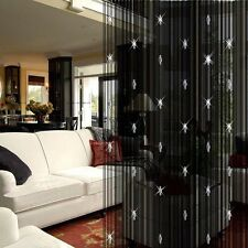 Decorative String Curtain With 3 Beads Tassels Door Window Panel Room Divider