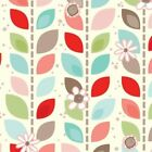 LEAF GARLAND - CORAL - ADORNIT 100% COTTON FABRIC stunning design