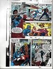 1991 Avengers 328 page 27 Marvel Comics color guide art: 1990's Captain America
