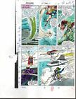 John Buscema 1988 Avengers 292 Marvel color guide comic art page 3:Thor/She-Hulk