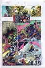 Original Thunderbolts Marvel color guide art page: Avengers Black Widow/Hawkeye