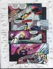 1992 X-Men Annual 16 page 28 original Marvel Comics color guide artwork: Iceman