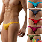 Hot Men's Underwear Low Rise Breathe Holes Bikini Thongs Bulge Pouch G-string JS