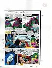1988 Buscema Avengers 296 Marvel Comics color guide art page 15: She-Hulk/Thor