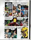 1991 Avengers Marvel color guide art page:Captain America/Thor/Iron Man/She-Hulk