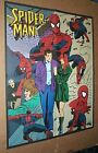 1996 Marvel Comics 22 by 17 Amazing Spider-man 2 sided coloring poster 2: 1990's