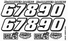 Racing Number Decal Set for RC Cars, Sprints, Late Models, Stock Cars, Dirt Oval