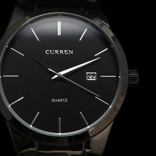 New CURREN Fashion Black Mens Date Analog Army Military HOURS Quartz Sport Watch