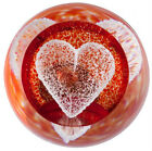"""New boxed CAITHNESS GLASS """"Special Moments Heart"""" ruby paperweight U12007"""