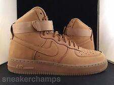 Nike Air Force 1 High 07 LV8 Wheat Flax PRE-ORDER Size 8-13 LIMITED 2015 RELEASE