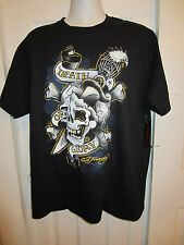 ED HARDY DEATH OR GLORY SKULL EAGLE T-SHIRT NWT DIFFERENT SIZES TO CHOOSE FROM