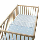 IKEA Crib Duvet Cover & Pillowcase VANDRING SKOG Cot Light Blue Pink Beige NEW